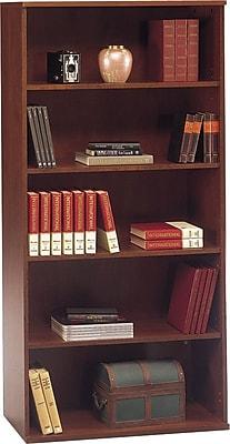 Bush Business Furniture Westfield 36W 5 Shelf Bookcase, Hansen Cherry (WC24414)