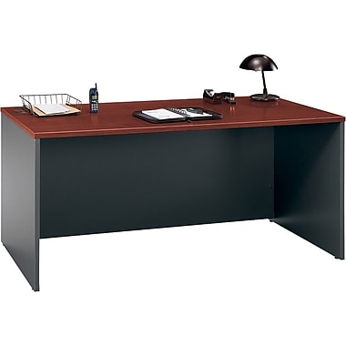 Bush® – Bureau de 66 po de la collection Westfield, fini cerisier Hansen et g