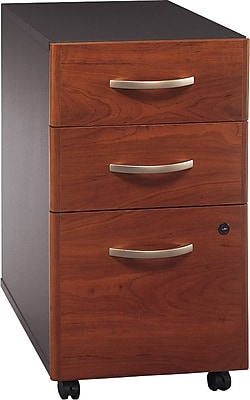 Bush Business Furniture Westfield 3 Drawer Mobile File Cabinet, Hansen Cherry/Graphite Gray (WC24453SU)