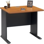 Bush Business Cubix 36W Desk, Natural Cherry/Slate