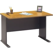Bush Business Cubix 48W Desk, Natural Cherry/Slate