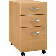 Bush Business Furniture Westfield 3 Drawer Mobile File Cabinet, Light Oak (WC60353SU)