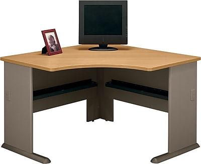 Bush Business Cubix 48W Corner Desk, Danish Oak/Sage