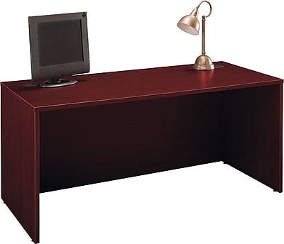 Bush Business Furniture Westfield 66W x 30D Office Desk, Mahogany (WC36742A)
