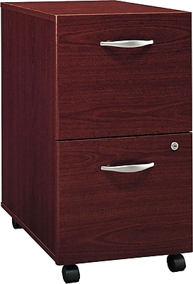 Bush Westfield Collection 2-Drawer Vertical File, Mahogany, Dock Delivery