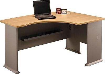 Bush Business Cubix 60W x44D Right Hand L-Bow Desk, Danish Oak/Sage