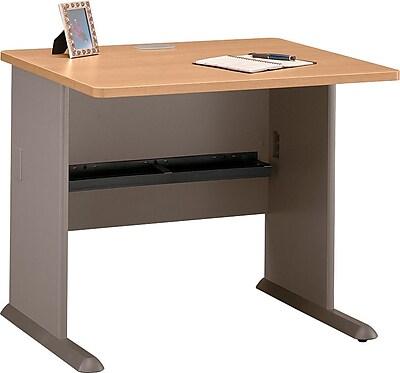 Bush Business Cubix 36W Desk, Danish Oak/Sage