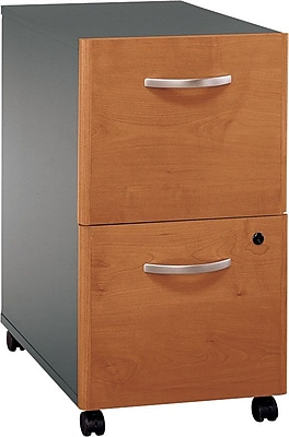 Bush Business Furniture Westfield 2 Drawer Mobile File Cabinet, Natural Cherry (WC72452SU)