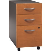 Bush Business Furniture Westfield 3 Drawer Mobile File Cabinet, Harvest Cherry/Graphite Gray (WC72453)