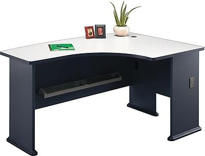 Bush Business Cubix 60W x44D Right Hand L-Bow Desk, Slate/White Spectrum
