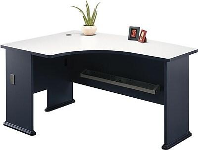 Bush Business Cubix 60W x 44D Left Hand L-Bow Desk, Slate/White Spectrum