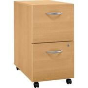 Bush Business Furniture Westfield 2 Drawer Mobile File Cabinet, Light Oak (WC60352SU)
