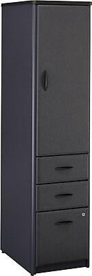 Bush Business Cubix Vertical Locker, Slate/White Spectrum, Installed
