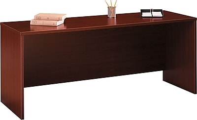 Bush Business Westfield 72W x 30D Desk/Credenza/Return, Cherry Mahogany