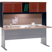 Bush Business Cubix 72W Hutch, Hansen Cherry/Galaxy, Installed