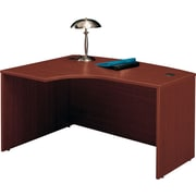 Bush Westfield Left L-Bow Front Desk,Cherry Mahogany