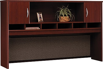 Bush Business Westfield 72W 2 Door Hutch, Cherry Mahogany, Installed