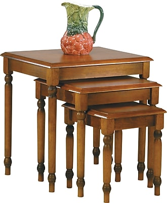 OSP Designs™ Knob Hill 3 Nesting Table Set, Antique Cherry