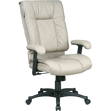 Office Star™ 9300 Series High-Back Leather Seating