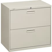 "HON® Brigade® 500 Series 2 Drawer Lateral File Cabinet, Letter/Legal, Light Grey, 30""W (HON572LQ)"