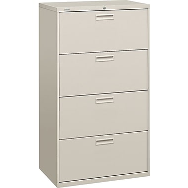 HON 500 Series 4 Drawer Lateral File, Gray,Letter/Legal, 30''W (HON574LQ)