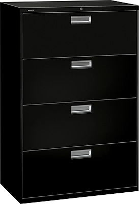 HON Brigade 600 Series Lateral File, 4 Drawers, Aluminum Pull, 36