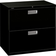 HON Brigade 600 Series 2 Drawer Lateral File, Black,Letter/Legal, 30''W (672L-P)