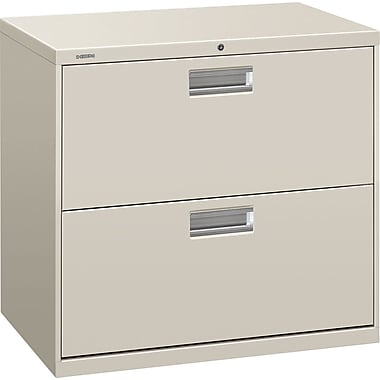 HON Brigade 600 Series 2 Drawer Lateral File, Gray,Letter/Legal, 30''W (672L-Q)