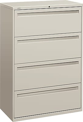 HON Brigade™ 700 Series 4 Drawer Lateral File, Gray,Letter/Legal, 36''W (H784LQ)