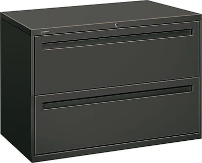 HON Brigade 2 Drawer Lateral File, Charcoal,Letter/Legal, 42''W (HON792LS)