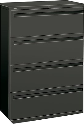 HON Brigade 4 Drawer Lateral File, Charcoal,Letter/Legal, 42''W (HON794LS)