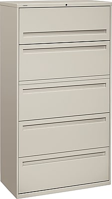 HON Brigade™ 700 Series 5 Drawer Lateral File, Gray,Letter/Legal, 36''W (HON785LQ)