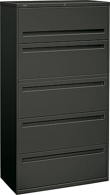 HON Brigade 5 Drawer Lateral File, Charcoal,Letter/Legal, 36''W (HON785LS)
