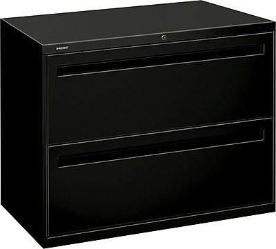 HON Brigade® 700 Series Lateral File, 2-Drawer, Black