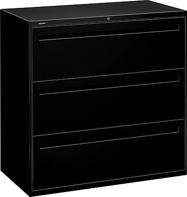 HON Brigade™ 700 Series 3 Drawer Lateral File, Black,Letter/Legal, 42''W (HON793LP)