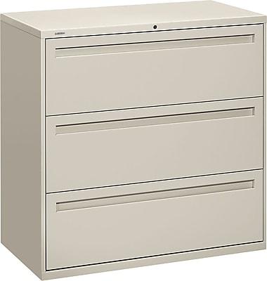 HON Brigade™ 700 Series 3 Drawer Lateral File, Gray,Letter/Legal, 42''W (HON793LQ)