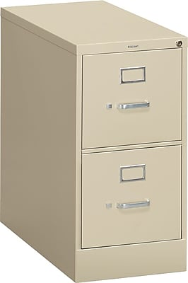 HON® S380 Series 2 Drawer Vertical File Cabinet, Putty, Letter, 26