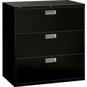 HON Brigade 600 Series 3 Drawer Lateral File, Black,Letter/Legal, 42''W (H693LP.COM) NEXT2017