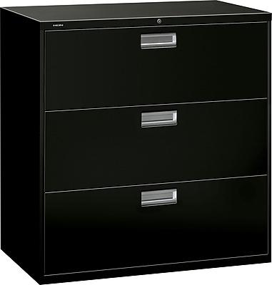 HON Brigade 600 Series Lateral File, 3 Drawers, Aluminum Pull, 42