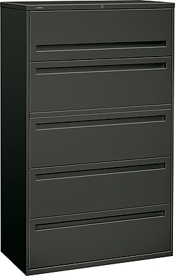 HON Brigade 5 Drawer Lateral File, Charcoal,Letter/Legal, 42''W (HON795LS)