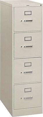 HON® S380 Series 4 Drawer Vertical File Cabinet, Light Gray, Letter, 26