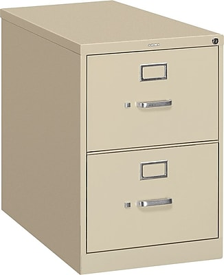 "HON® S380 Series 2 Drawer Vertical File Cabinet, Putty, Legal, 26""D (HS382CPL)"