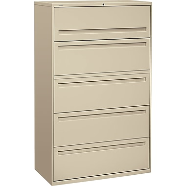 HON Brigade 5 Drawer Lateral File, Putty/Beige,Letter/Legal, 42''W (HON795LL)