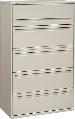 HON Brigade 5 Drawer Lateral File, Gray,Letter/Legal, 42''W (HON795LQ)
