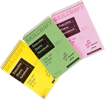 National Industries Rainbow Colored Steno Notebook, 6