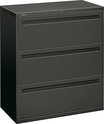 HON Brigade™ 700 Series 3 Drawer Lateral File, Charcoal,Letter/Legal, 36''W (HON783LS)