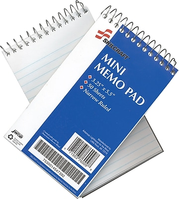 National Industries Mini-Memo Pad, 3 1/4