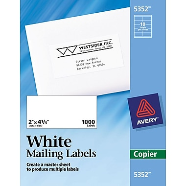 Avery® White Copier Shipping Labels