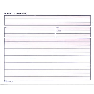 "Memo Book, 50 Message Capacity, 8 1/2"" x 7 1/2"""