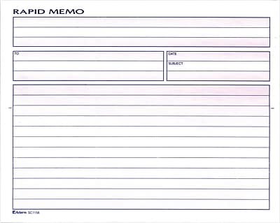 Adams® Spiral Memo Books, 8-1/2x7-1/4